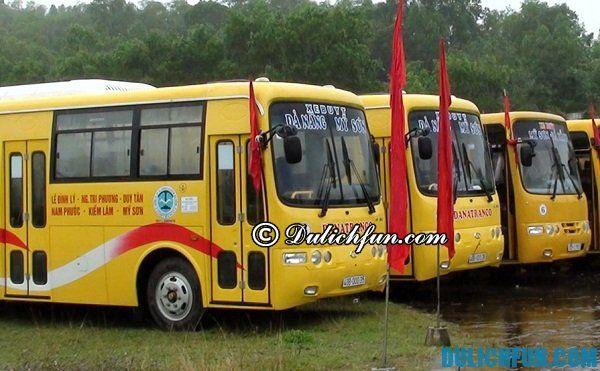 Xe bus từ Đà Nẵng tới thánh địa Mỹ Sơn. Kinh nghiệm du lịch Mỹ Sơn