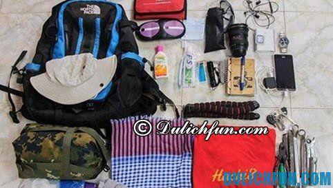 Hướng dẫn kinh nghiệm du lịch Tràm Chim chi tiết, đầy đủ: chuẩn bị đồ du lịch vườn quốc gia Tràm Chim