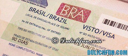 Kinh nghiệm du lịch Rio de Janeiro thuận lợi, an toàn: Hướng dẫn làm visa du lịch Rio de Janeiro