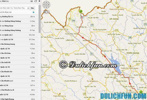 Hướng dẫn du lịch Si Ma Cai chi tiết, đầy đủ: Bản đồ đường đi lên Si Ma Cai tự túc