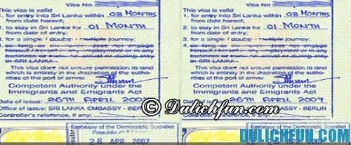 Hướng dẫn & kinh nghiệm du lịch Sri Lanka: hướng dẫn làm thị thực nhập cảnh Sri Lanka