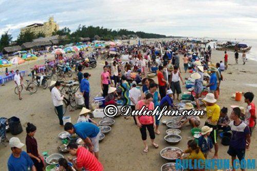 Kinh nghiệm du lịch biển Thiên Cầm: mua sắm ở biển Thiên Cầm