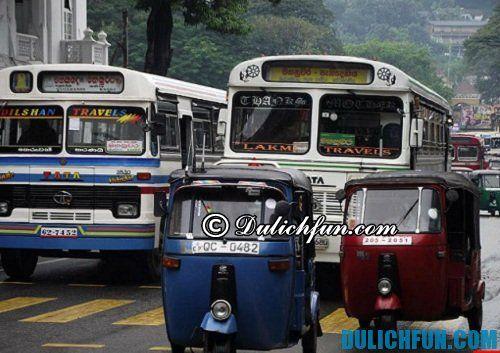 Hướng dẫn du lịch Sri Lanka chi tiết, đầy đủ: phương tiện di chuyển tới Sri Lanka