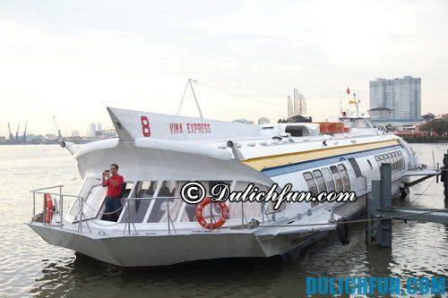 Kinh nghiệm di chuyển tới Hồ Mây an toàn, chi tiết: tàu cánh ngầm di chuyển tới Vũng Tàu