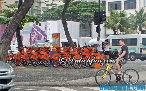 Kinh nghiệm du lịch Rio de Janeiro hấp dẫn, nóng bỏng. Hướng dẫn du lịch Rio de Janeiro đầy đủ về phương tiện, ăn uống, vui chơi. Di chuyển ở thành phố Rio de Janeiro bằng xe đạp