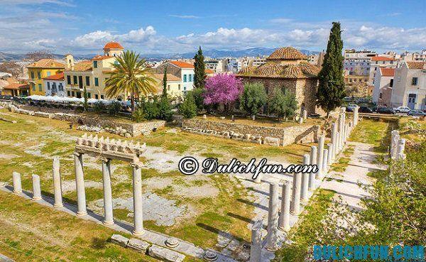 Agora cổ đại, địa điểm du lịch nổi tiếng ở Athens, những địa điểm tham quan độc đáo ở Athens