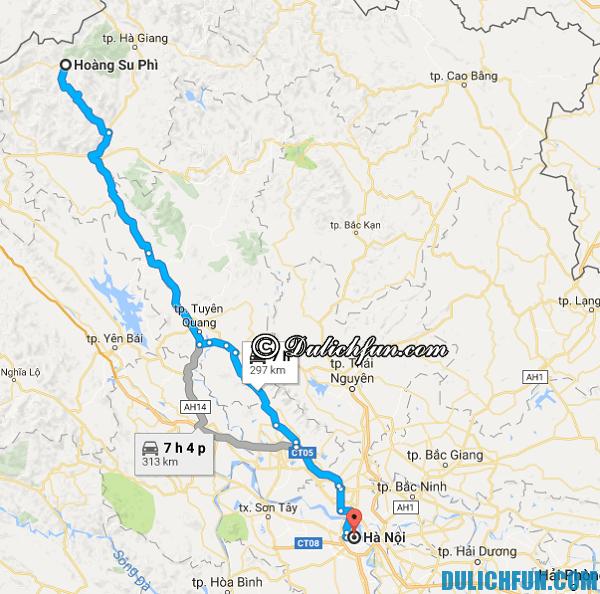 Cách di chuyển, đường đi, phương tiện tới Hoàng Su Phì. Kinh nghiệm du lịch Hoàng Su Phì