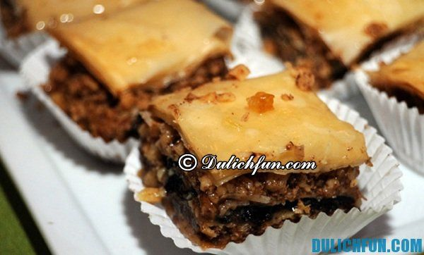 Bánh Baklava, món ăn ngon nổi tiếng ở Hy Lạp. Những món ăn độc đáo, ngon hấp dẫn ở Hy Lạp