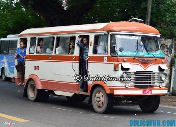 Danh sách các tuyến xe bus ở Myanmar: Kinh nghiệm đi du lịch Myanmar bằng xe bus giá rẻ, đơn giản