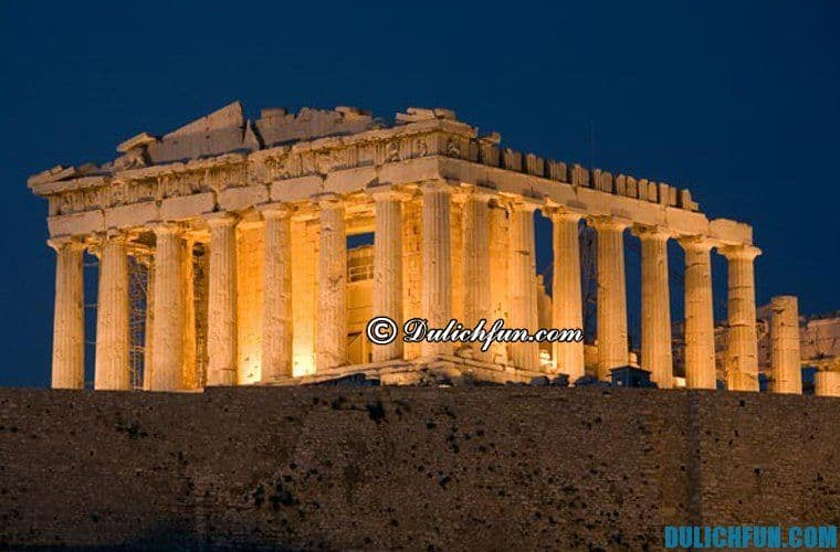 Đền thờ Pathenon, địa điểm du lịch đẹp, nổi tiếng ở Hy Lạp. Khám phá những địa điểm du lịch nổi danh ở Hy Lạp