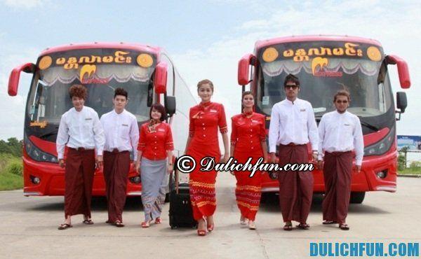 Du lịch Myanmar bằng xe bus: Hướng dẫn đi xe bus du lịch Myanmar