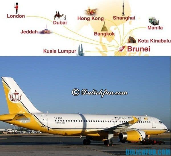 Di chuyển, phương tiện, đường đi, cách thức tới Brunei. Kinh nghiệm du lịch Brunei