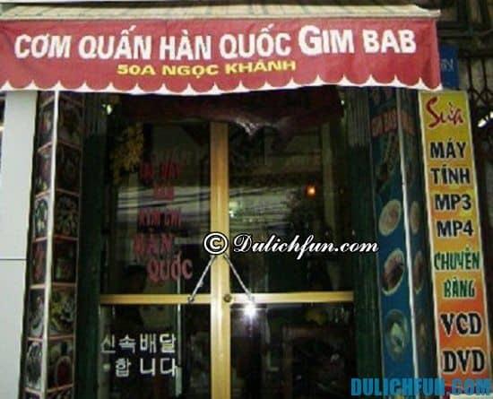 Đồ ăn Hàn Quốc chỗ nào Hà Nội ngon nhất? Cơm cuốn Hàn Quốc GimBab, địa chỉ nhà hàng, quán ăn đồ Hàn Quốc ngon, giá rẻ ở Hà Nội