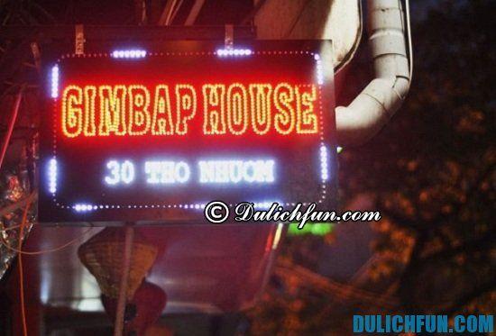 Ăn đồ Hàn Quốc ở đâu tại Hà Nội? Gimbap house, địa chỉ quán ăn Hàn Quốc ngon, nổi tiếng ở Hà Nội
