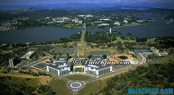 Khám phá những địa điểm du lịch nổi tiếng ở Canberra, những điểm tham quan đẹp, hấp dẫn ở Canberra