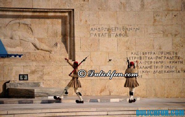 Quảng trường Syntagma, địa điểm du lịch nổi tiếng ở Athens, địa điểm tham quan thú vị ở Athens. Điểm danh những địa điểm du lịch ở Athens