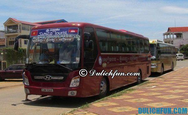 Kinh nghiệm du lịch Campuchia bằng xe bus: Các hãng xe bus đi du lịch Campuchia từ Sài Gòn và giá vé