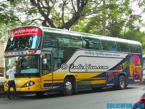 Hãng xe bus tới Campuchia từ Sài Gòn tốt nhất hiện nay: Xe bus đi du lịch Campuchia giá rẻ, chất lượng cao