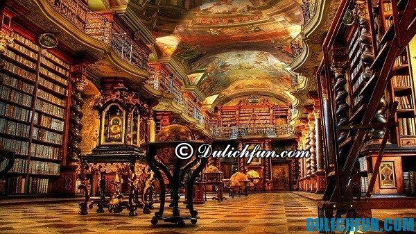 Tu viện ở Strahov, những địa điểm du lịch nổi tiếng, hấp dẫn ở Praha. Ghé thăm những địa điểm du lịch đẹp, hấp dẫn ở Praha: Nơi tham quan du lịch độc đáo ở Praha