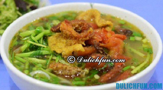 Kinh nghiệm du lịch biển Đồng Châu. Ăn gì khi du lịch biển Đồng Châu? Canh cá Quỳnh Côi, món ăn ngon, đặc sản nổi tiếng ở Thái Bình