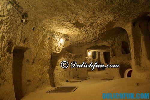 Tổng hợp địa điểm du lịch hấp dẫn ở Cappadocia: thành phố ngầm ở Cappadocia, nơi tham quan du lịch hấp dẫn ở Cappadocia
