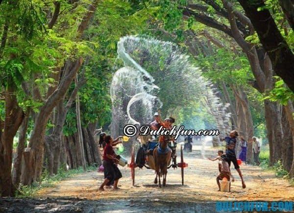 Lễ hội té nước ở Campuchia diễn ra khi nào?