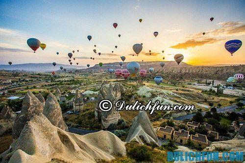 Hướng dẫn du lịch Cappadocia chi tiết, đầy đủ: khám phá Cappadocia bằng khinh khí cầu