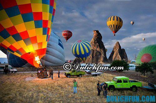 Kinh nghiệm, hướng dẫn du lịch Cappadocia chi tiết, đầy đủ: du lịch Cappadocia bằng khinh khí cầu