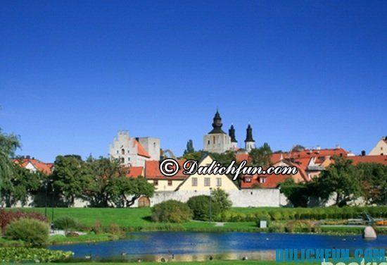 Đi đâu, chơi gì khi du lịch Thụy Điển? Thành cổ Visby, địa điểm tham quan, du lịch nổi tiếng ở Thụy Điển
