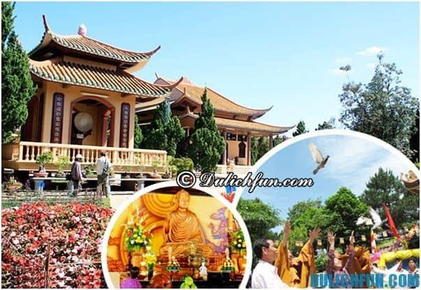 Những ngôi chùa thiêng nổi tiếng ở Đà Lạt cổ kính, tuyệt đẹp. Đà Lạt có những ngôi chùa đẹp nào? Linh Phong, thiền viện Đà Lạt...