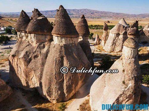 Lịch trình tham quan du lịch ở Cappadocia: Những địa điểm du lịch hấp dẫn bậc nhất ở Cappadocia: thung lũng nấm