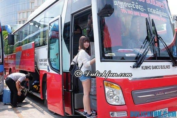 Hãng xe bus đi Campuchia uy tín, tin cậy: Du lịch Campuchia bằng xe bus cần chuẩn bị những gì?