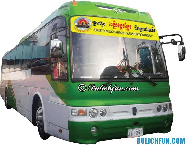 Kinh nghiệm du lịch Campuchia bằng xe bus. Các hãng xe bus chạy tới Campuchia từ Sài Gòn