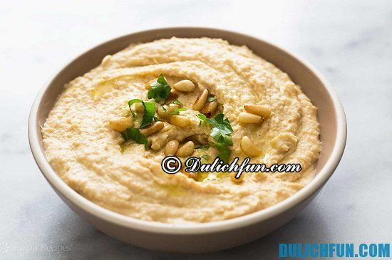 Món Hummus, món ăn ngon, hấp dẫn ở Trung Đông. Khám phá các món ăn ngon, đặc sản nổi tiếng nhất ở Trung Đông - Kinh nghiệm du lịch Trung Đông