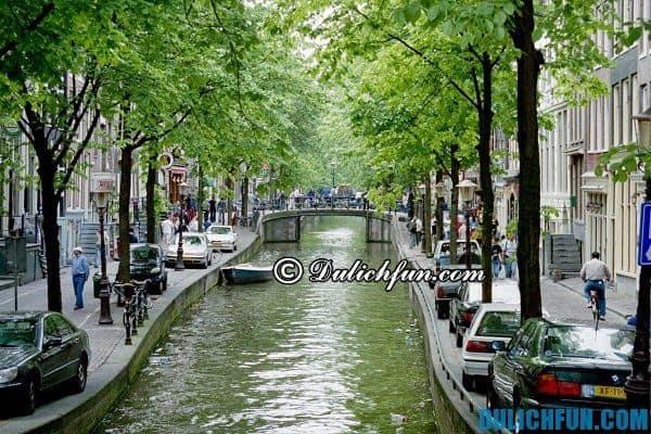 Khu vực quảng trường Rembrandtplein, điểm vui chơi đẹp nổi tiếng ở Amsterdam