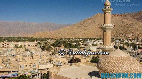 Kinh nghiệm du lịch Oman - Đi đâu, chơi gì khi du lịch Oman? Nizwa, địa điểm tham quan, du lịch nổi tiếng ở Oman