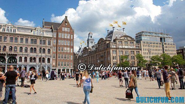 Quảng trường Dam, địa điểm du lịch đẹp nổi tiếng ở Amsterdam, những nơi vui chơi hấp dẫn ở Amsterdam