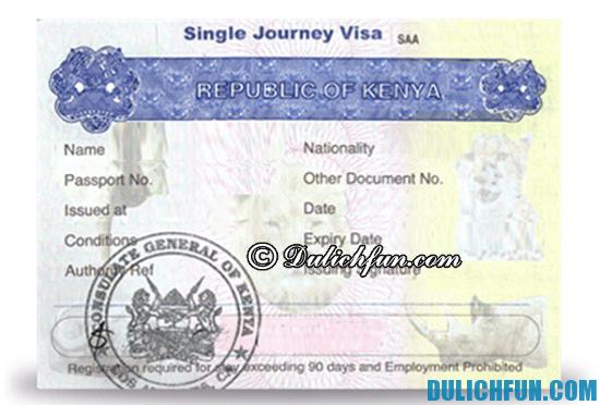 Xin Visa du lịch Kenya cần chuẩn bị những gì? Hướng dẫn thủ tục xin Visa du lịch Kenya