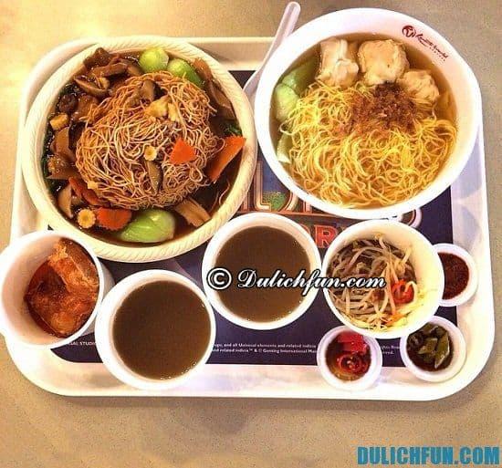 Ăn gì khi du lịch Universal Singapore? Địa điểm ăn ngon, giá rẻ ở Universal Singapore