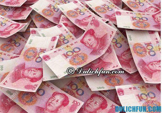 Thông tin và hướng dẫn đổi tiền tệ Trung Quốc, đổi tiền Trung Quốc ở đâu? Nên đổi bao nhiêu tiền nhân dân tệ khi đi du lịch Trung Quốc?