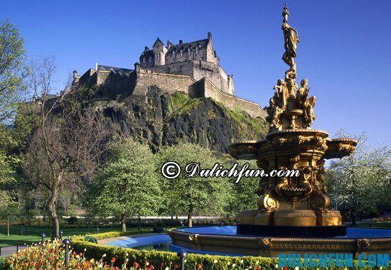Hướng dẫn lịch trình vui chơi, ăn uống, tham quan ở Scotland: Du lịch Scotland có gì thú vị? Lâu đài Edinburgh, địa điểm tham quan, du lịch nổi tiếng ở Scotland