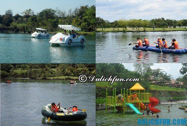 Các trò chơi dưới nước thú vị ở khu du lịch Suối Mơ: Du lịch công viên Suối Mơ có trò chơi gì hay?