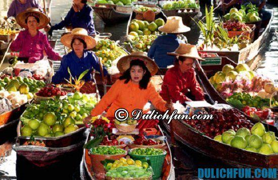 Một số địa điểm du lịch thú vị ở Pattaya. Chợ nổi bốn miền, địa điểm tham quan, du lịch nổi tiếng ở Pattaya không nên bỏ lỡ