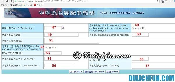 Điền thông tin xin visa du lịch Đài Loan online như thế nào? Tư vấn cách nhập tờ khai xin visa du lịch Đài Loan trực tuyến