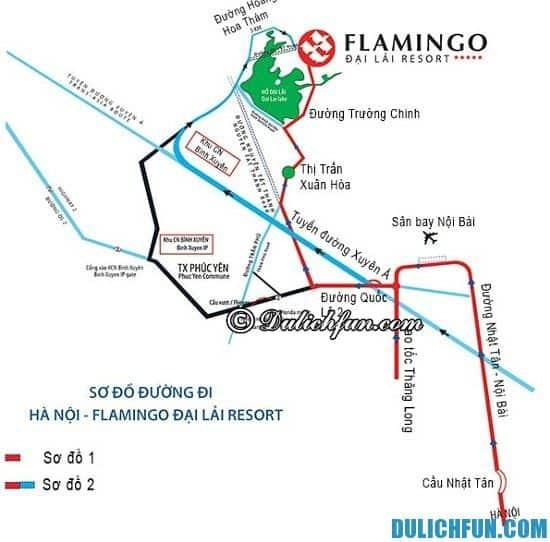 Đường đi du lịch Flamingo Đại Lải như thế nào? Hướng dẫn chi tiết cách đi du lịch tới Flamingo Đại Lải