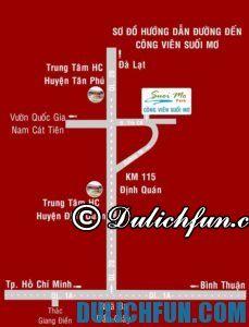 Hướng dẫn đường đi du lịch công viên Suối Mơ từ Sài Gòn: Phương tiện di chuyển tới khu du lịch Suối Mơ, Đồng Nai