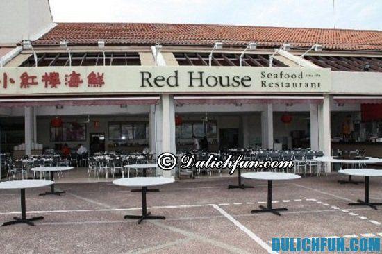 Danh sách những quán ăn cua sốt ớt Chili Crab siêu ngon ở Singapore. Nhà hàng Red House Seafood Restaurant, địa điểm quán ăn cua sốt ớt Chili Crab cực ngon ở Singapore bạn không nên bỏ lỡ