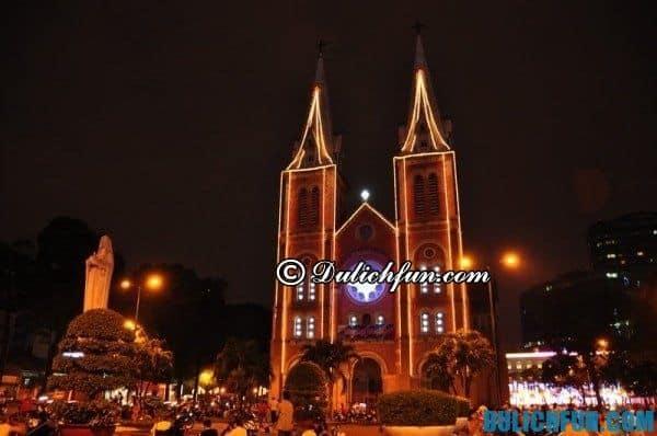 Đón Giáng sinh tại các thánh đường lớn ở Sài Gòn: Nơi vui chơi đêm noel ở Sài Gòn thú vị, đẹp nhất