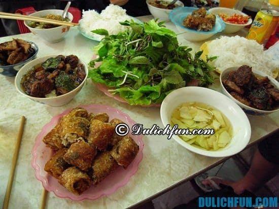 Địa chỉ các quán bún chả ngon ở Hà Nội, ăn bún chả ở đâu Hà Nội ngon, giá bình dân, nổi tiếng nhất