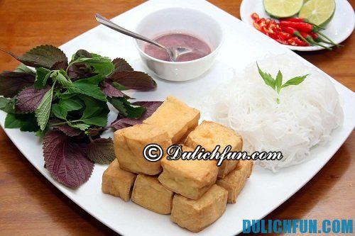 Các quán bún đậu mắm tôm ngon rẻ nổi tiếng ở Hà Nội. Ăn bún đậu mắm tôm ở đâu Hà Nội ngon nhất?